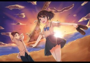 Rating: Safe Score: 20 Tags: luky robotics;notes seifuku senomiya_akiho yashio_kaito User: 椎名深夏