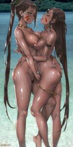 Rating: Explicit Score: 67 Tags: ass fingering garter naked nipples pubic_hair pussy_juice symmetrical_docking tagme viola_(seed) yuri User: langyaY