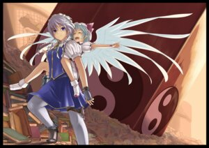 Rating: Questionable Score: 12 Tags: gustav izayoi_sakuya remilia_scarlet touhou wings User: fireattack