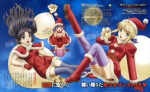 Rating: Safe Score: 16 Tags: christmas cleavage fate/stay_night fate/stay_night_unlimited_blade_works makita_yoshinobu matou_sakura saber thighhighs toosaka_rin User: acas