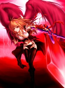 Rating: Questionable Score: 39 Tags: die_blonde_bestie ex_rumia garter garter_belt rumia stockings sword thighhighs touhou wings User: yayanipon
