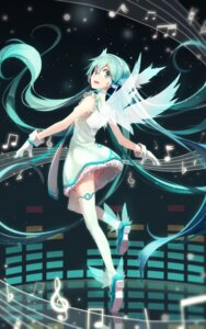 Rating: Safe Score: 51 Tags: ass dress hatsune_miku heels lf pantsu shimapan thighhighs vocaloid wings User: Mr_GT