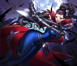 Rating: Safe Score: 26 Tags: bodysuit citemer league_of_legends shauna_vayne weapon User: charunetra