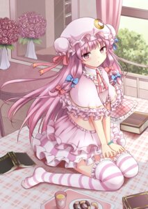 Rating: Safe Score: 39 Tags: kamekiti patchouli_knowledge thighhighs touhou User: charunetra