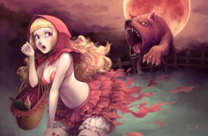 Rating: Safe Score: 25 Tags: bra cleavage little_red_riding_hood_(character) red_riding_hood toshi User: Radioactive