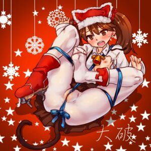 Rating: Explicit Score: 42 Tags: christmas kantai_collection loli nipples no_bra nopan open_shirt pantyhose pussy ryuujou_(kancolle) tail torn_clothes yamada_(gotyui) User: Mr_GT