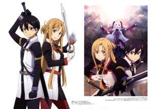 Rating: Safe Score: 15 Tags: asuna_(sword_art_online) kirito nakayama_masae pantyhose sword sword_art_online toya_kento uniform yuna_(sword_art_online) User: drop