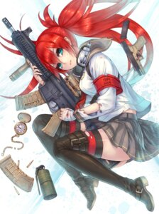 Rating: Safe Score: 33 Tags: 2d gun thighhighs User: Radioactive