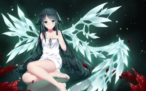 Rating: Safe Score: 66 Tags: blood cangkong dress saya saya_no_uta wallpaper wings User: Mr_GT
