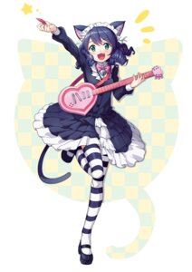 Rating: Safe Score: 26 Tags: animal_ears cyan_(show_by_rock!!) dress guitar nekomimi saiste show_by_rock!! tail thighhighs User: blooregardo
