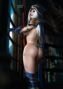 Rating: Questionable Score: 28 Tags: armor ashe ass league_of_legends naked_cape pantsu sevenbees thighhighs thong User: XenoGoku