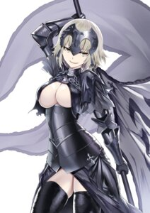 Rating: Questionable Score: 58 Tags: armor breasts cleavage fate/apocrypha fate/grand_order fate/stay_night heirou no_bra ruler_(fate/apocrypha) thighhighs weapon User: nphuongsun93