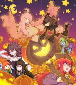 Rating: Safe Score: 10 Tags: anthropomorphization bandages banette deoxys gengar gourgeist halloween heels lunatone pantyhose pokemon pumpkaboo rotom space_jin witch User: Mr_GT