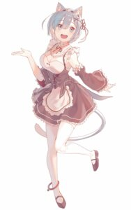 Rating: Safe Score: 58 Tags: animal_ears cleavage maid nekomimi re_zero_kara_hajimeru_isekai_seikatsu rem_(re_zero) tail thighhighs torano User: nphuongsun93