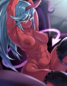 Rating: Questionable Score: 36 Tags: horns kneesocks megane moisture_(chichi) naked nipples panty_&_stocking_with_garterbelt tail thighhighs User: Mr_GT