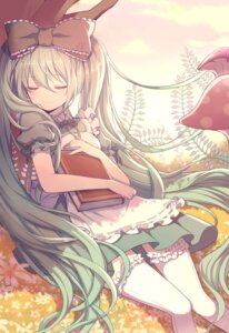 Rating: Questionable Score: 46 Tags: alice_in_wonderland dress hatsune_miku ling_(sroin) thighhighs vocaloid User: 麻里子