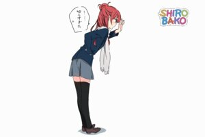 Rating: Safe Score: 25 Tags: ponkan_8 sakaki_shizuka seifuku shirobako thighhighs User: edogawaconan