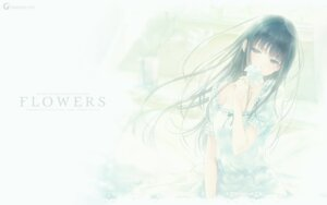Rating: Safe Score: 59 Tags: dress flowers innocent_grey shirahane_suou sugina_miki wallpaper User: marshmallow