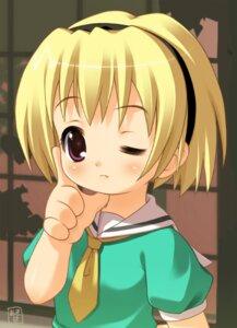 Rating: Safe Score: 11 Tags: akiba_hideki funifuniya higurashi_no_naku_koro_ni houjou_satoko User: hugo_victor