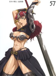 Rating: Questionable Score: 16 Tags: armor claudette cleavage nigou queen's_blade sword underboob User: HSkeleton