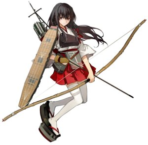 Rating: Safe Score: 25 Tags: akagi_(kancolle) kantai_collection minakata_sunao thighhighs weapon User: Radioactive