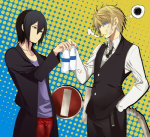 Rating: Safe Score: 9 Tags: durarara!! heiwajima_kasuka heiwajima_shizuo User: Radioactive