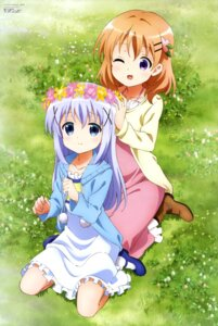 Rating: Safe Score: 80 Tags: dress gochuumon_wa_usagi_desu_ka? heels hoto_cocoa kafuu_chino toya_kento User: drop