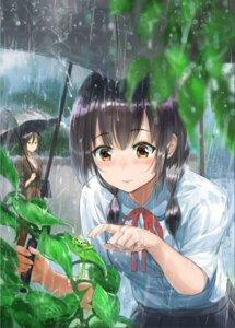 Rating: Safe Score: 31 Tags: seifuku tagme umbrella wet User: saemonnokami