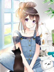 Rating: Safe Score: 31 Tags: neko overalls ryoutan User: BattlequeenYume