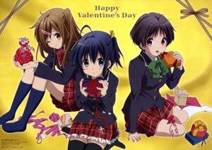 Rating: Safe Score: 49 Tags: chuunibyou_demo_koi_ga_shitai! ikeda_kazumi nibutani_shinka seifuku takanashi_rikka tsuyuri_kumin valentine User: PPV10