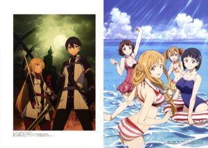 Rating: Questionable Score: 40 Tags: ass asuna_(sword_art_online) bikini cleavage kirigaya_suguha kirito komatsubara_sei lisbeth pantyhose school_swimsuit silica swimsuits sword sword_art_online uniform wet User: drop