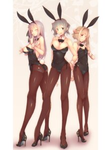 Rating: Questionable Score: 64 Tags: animal_ears ass breasts bunny_ears bunny_girl cameltoe heels hidamari_sketch kagami_uekusa leotard matsuri_(hidamari_sketch) nazuna nipples no_bra nori pantyhose tail User: mash