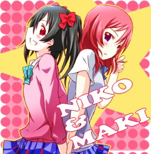 Rating: Safe Score: 11 Tags: love_live! nishikino_maki nishina7 seifuku yazawa_nico User: Radioactive