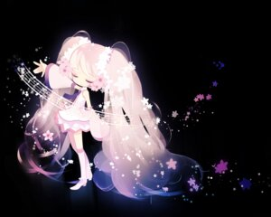 Rating: Safe Score: 41 Tags: dress hatsune_miku putidevil sakura_miku vocaloid wallpaper User: kayex