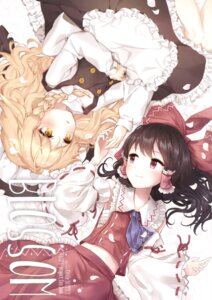 Rating: Safe Score: 37 Tags: dress hajin hakurei_reimu kirisame_marisa minust touhou yuri User: Radioactive