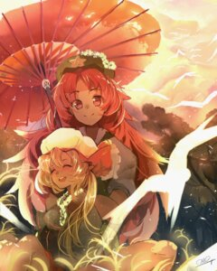 Rating: Safe Score: 11 Tags: flandre_scarlet hong_meiling omo_(utakatadice) touhou umbrella User: KazukiNanako