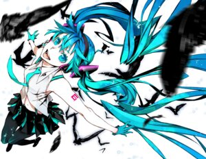 Rating: Safe Score: 25 Tags: hatsune_miku headphones miwa_shirow pantyhose vocaloid User: Zenex