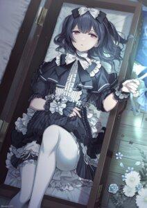 Rating: Safe Score: 23 Tags: gothic_lolita lolita_fashion morino_rinze pantyhose skirt_lift takeko_spla the_idolm@ster the_idolm@ster_shiny_colors User: yanis