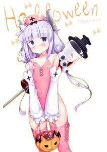 Rating: Safe Score: 44 Tags: halloween horns kanna_kamui kobayashi-san_chi_no_maid_dragon leotard nyatrix stockings thighhighs User: Mr_GT