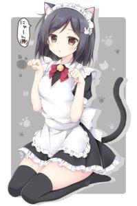 Rating: Safe Score: 37 Tags: animal_ears korie_riko maid nekomimi tail thighhighs User: edogawaconan