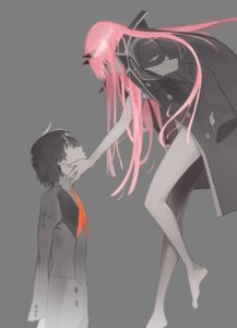 Rating: Questionable Score: 38 Tags: darling_in_the_franxx hiro_(darling_in_the_franxx) horns naked_cape tanaka_masayoshi transparent_png zero_two_(darling_in_the_franxx) User: animefan01
