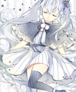 Rating: Safe Score: 23 Tags: dress fuyu_no_yoru_miku hatsune_miku miyuki_(miyuki_05290) thighhighs vocaloid User: Mr_GT