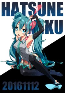 Rating: Safe Score: 8 Tags: hatsune_miku heels see_through thighhighs vocaloid westxost_(68monkey) User: charunetra