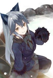 Rating: Safe Score: 33 Tags: animal_ears harutask kemono_friends onsen pantyhose silver_fox wet User: Mr_GT