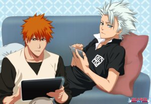 Rating: Safe Score: 8 Tags: bleach hitsugaya_toushirou kurosaki_ichigo male narusailor User: charunetra
