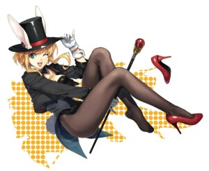 Rating: Safe Score: 25 Tags: animal_ears bunny_ears bunny_girl heels luna pantyhose tail User: Mr_GT