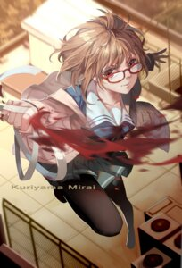 Rating: Safe Score: 28 Tags: bandages blood kuriyama_mirai kyoukai_no_kanata lightofheaven megane pantyhose seifuku User: Zenex