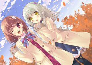 Rating: Safe Score: 25 Tags: flyable_heart inaba_yui ito_noizi seifuku yukishiro_suzuno User: fireattack