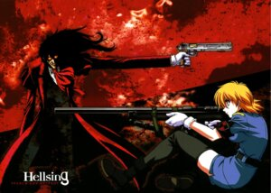 Rating: Safe Score: 9 Tags: alucard gun hellsing seras_victoria User: Radioactive