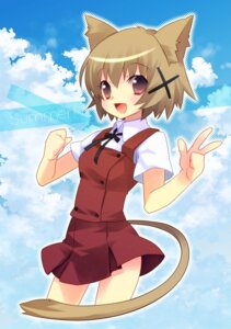 Rating: Safe Score: 21 Tags: animal_ears ech hidamari_sketch nekomimi seifuku tail yuno User: Nekotsúh
